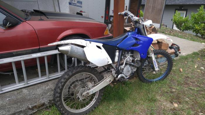 03 yzf 450 trade 4 fishing boat or car or truck 60s or older.
