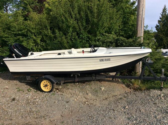 14 foot fibreglass boat,motor,trailer