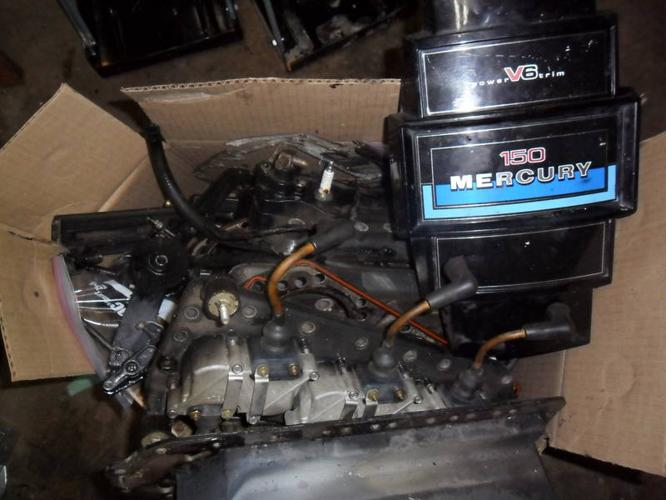 150HP mercury outboard disassembled (overheated) for sale in