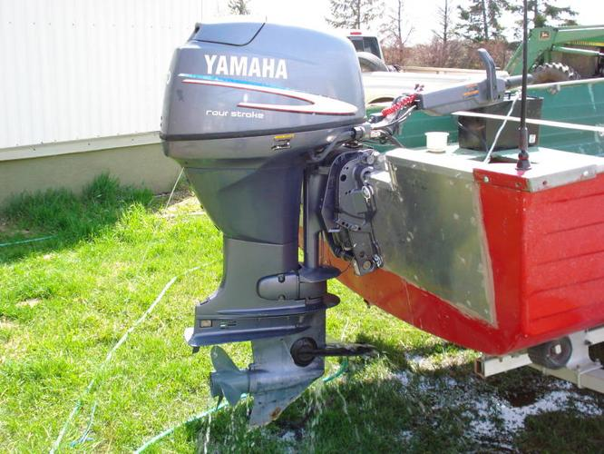 18 foot crestliner with 30 hp yamaha four stroke for sale for Yamaha 30hp 2 stroke