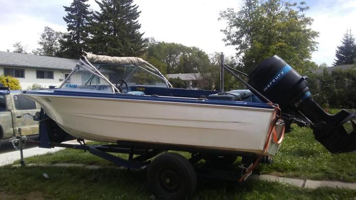 1987- 16 ft ski/fishing boat  Mercury 115 motor and trailer