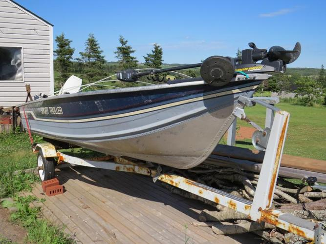 1988 Sylvan boat, motor and trailer