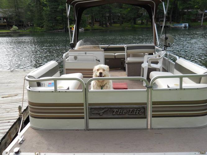 20 FOOT PONTOON BOAT for sale in Washago, Ontario - Used boats for you