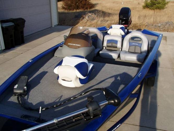 2008 Bass Tracker ProTeam 175 TXW c/w 50 HP Mercury for sale