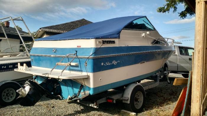 22 ft searay seville aft cabin