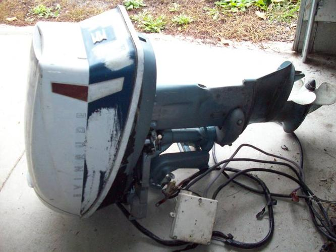 28 Hp Evinrude Boat Motor And 12 Ft Fiberglrunabout Boat