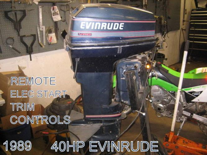 EVINRUDE 40HP OUTBOARD for sale in Espanola, Ontario - Used