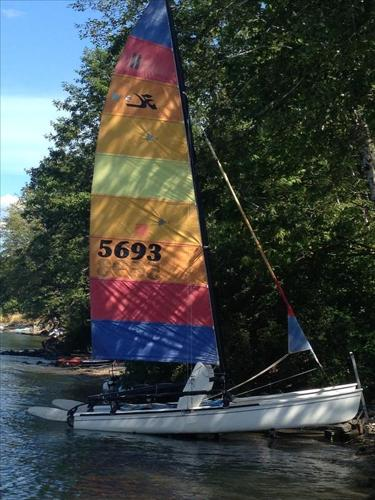 Hobie Cat 18 sx with wings for sale in Fanny Bay, British