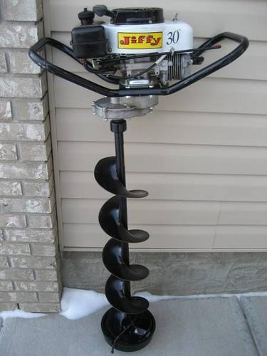 JIFFY 3 HP ICE AUGER w/Tecumseh Engine * 2 YEARS OLD, all METAL!