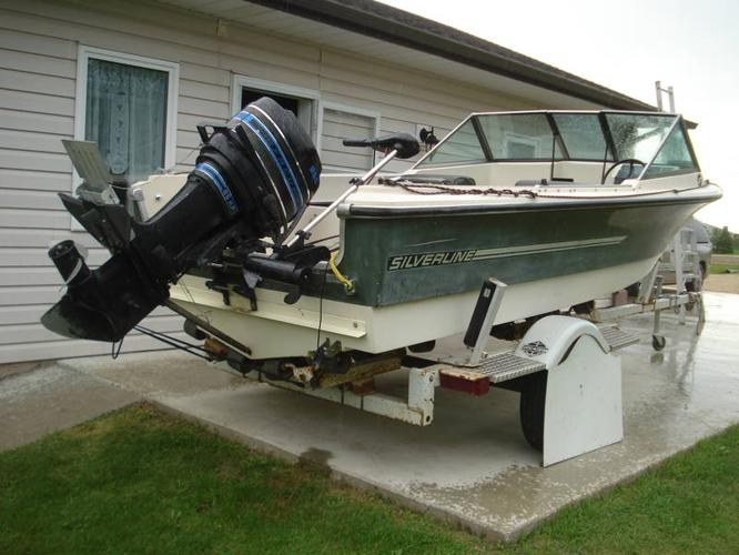 Reduced nice silverline boat fish cruise 85 hp motor for Nice fishing boats