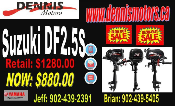 Suzuki 2.5S Outboard - NEW - Trout Fishermen Special