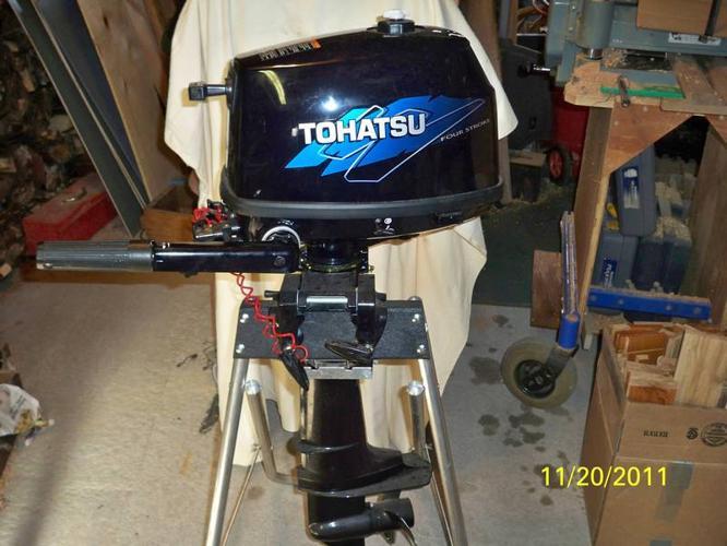 TOHATSU 4 HORSE POWER OUTBOARD MOTOR.