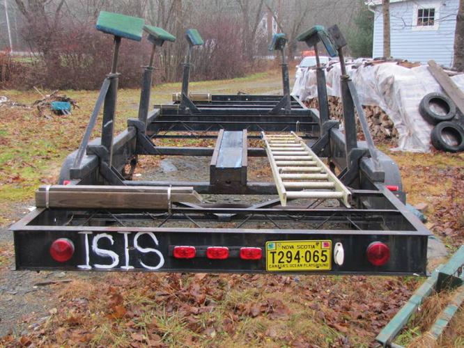 Two axle sail boat trailer
