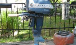 1958 10 hp evinrude  $ 200,    fuel tank $ 30