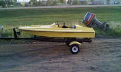 This little gem is alot of fun and sure attracts alot of attention when out on the water! Pretty quick (GPS said 60km/h with 2 large men riding in it). In great condition also. So light that one person can pull it out and hook up to the towing vehicle by