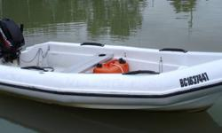"12' Logic fibreglass runabout with 1998 25hp Mercury 2 cycle motor. Boat used as tender for sailboat so very few hours on motor. Boat is fast, sturdy, and very stable in the water, (not  ""tippy"").  Very good condition."