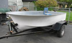 12 foot fiberglass boat with trailer and motor..contact Brent for more info at 604 530 5302