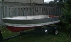 Hi there I am selling my 12 ft aluminum boat. This boat has no leaks and is great for fishing or hunting. I am asking 350 OBO please call 289 221 7002 to come take a look. Trailer is not included unless the offer is right.