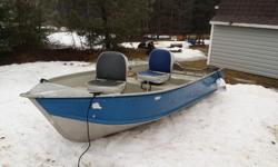 For sale only. No trades. 12 ft aluminium boat and 8 hp Yamaha 4 stroke outboard. Comes with trailer, 12 VT trolling motor and much more. $2,000. please contact Roger 902-303-5501.