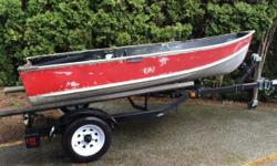 Selling my 12 foot aluminum boat and trailer. The boat has been used extensively for fly fishing on Elk Lake and other local fresh water lakes. It is solid, and if I spend 4 or 5 hours in it there is less than a cup full of water in the bottom. There is