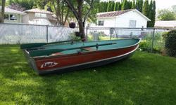 Heavy 12 foot Lund, rated for up to 15 hp. Comes with 9.9 evinrude, gas tank, oars, seats, anchor and life jackets. Excellent fishing boat, ready to use.
