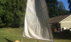 12 ft fiberglass sailboat aluminum mast and Dacron sail