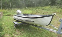 12ft alumiun boat,6 hp evinrude motor....NO TRAILER...asking $900