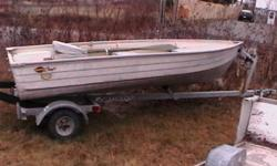12Ft. boat for sale. Included with 9.9hp motor, gas tank with hose, paddles, anchor & seat. Asking $3000.00 obo. Please call Jason @ (709)699-5836.