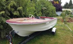 I have 13ft Sangstercraft power boat. I think it is from 1979 model. I would like get rid of it because I don't have time or money but motor and stuff. It comes with trailer with nice new lights. Ready to tow away. Quick sale.