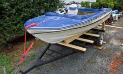 14' Fiberglass unknown brand Hull, floor and transom are solid. No leaks. Comes with 2 seats & controls. No trailer. Email is best to contact.