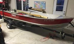 Great boat Can hold 3 people Rated for 17 HP 500 OBO