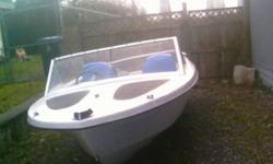 14.5 Sportsman Boat. Great for fishing. Has the fishing rod handles. Has a roof but just not up. Hull is in great shape No motor Only serious people also.OBO