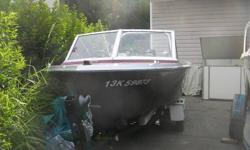 I bought this boat from a friend in the auto body business. This boat was just completely redone with the most amazing burn cherry metallic paint job. It had the jell coat done and a new improved ridged foam floor put in. The inside is also painted and