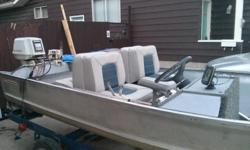 14 ft Peterborough, completely redone, new carpet, floor seats. storage. rebuilt Viking 35 hp with new teleflex steering system. Comes with freshly painted boat trailer, new tires/rims wiring, wheel bearings and rollers. New oars and new transom tie