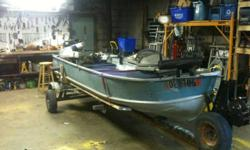 I am selling my 14' aluminum fishing boat with 20 hp mercury outboard. No leaks and starts every time. New transom, and boat lights work Hummingbird fish finder minn kota 55lb bow mount with Ipilot (gps enabled) and dual marine batteries (brand new this