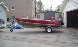 The boat is ready to go. - Features ,20 ' shorelander trailer new wheels and tires - 30 hp low hours extra prop - anchor - (3) downriggers - (4) life jackets -(4 downrigger lead weights - (2) foam seats - stainless holding tank - 11 Gallon plastic fuel