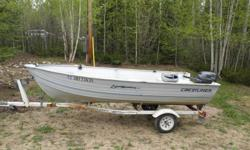 MINT CONDITION, 2007 YAMAHA 20HP Four Stroke! Very low hours 14' CRESTLINER SPORSTMAN DEEP & WIDE 1999 SHORELANDER TRAILER, 14-12 Bunk Trailer, 1200 lb weight capacity Two New Seats Spare Tire Anchor Paddles Try your offer now. If it does not sell in the