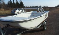 I am selling a new 14'foot high sided Carolina Skiff. This is the deluxe version complete with a brand new trailer. This boat has only seen the water a VERY few times. The trailer is a galvanized  Karavan. This unit was bought for an aquaculture operation