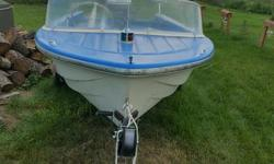 good little boat, newer steering line 2 tanks 4 swivel seats fish finder trailer all lites working painted recently Johnson 33 hp electric start battery rod holders stereo open to offers at my campsite, 25 minutes from regina