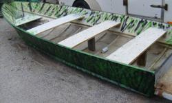 TRANSOM JUST REDONE ,,,NO LEAKS,,,FLOATS,,HOPE THIS COVERS ALL THE STUPIED QUESTION,OH WAIT,NO MOTOR NO TRAILER