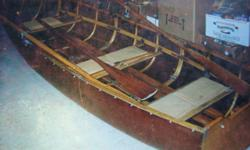 14 foot Collapsible / Portable Boat with oars circa 1930-1940's. excellent condition. Panelling is fiberglass. call 783-1775