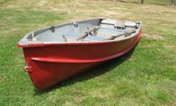 14 ft. alum boat Older boat - leaks a little Comes with 2 oars