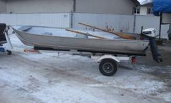 14 Foot Aluminum Boat with 9.9 Evinrude for sale The following work was professionally done last year: new points & condersors new recoil spring and starte rope rebuild carborator new thermostate and water jacket gasket new head gasket new spak plug and