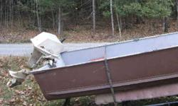 14 Ft heavy duty aluminum fishing boat, extra wide,  3 seats, with 6 HP outboard motor excellent running condition, and heavy duty trailer. Asking $1200.   613-622-5510  John