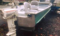 Not a single leak, great sturdy boat, has 2 sliding seats, set up for 2 downriggers, a DIY shelf for sonar and 3 DIY rod holders. A small bow storage. Great running Johnson Longshaft 9.9 HP. Starts first pull every time. Only selling because kids are