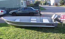 2009 Super Pro II Meyers Boat and 8hp Honda 4cycle motor ( early 90's ) for sale. Boat is 14 feet and is rated for 25 hp motor. Motor is in good running condition. Will sell boat separately. Call 613-732-3963 Mon. to Fri. after 5pm or weekends all day.