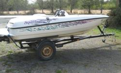 14 ft Seaswirl jet boat and trailer 115 hp Turbo jet 3 seater - also front bow seating Speed approx. 50 mph Good condition