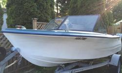 14 ft K&C Thermoglass boat with fully Service 30Hp Mariner outboard and new steering system boat come with down downrigger , compass, depth sounder, boat trailer. it needed notting to go fishing. i just bought a sailboat no longer needed this boat 3000