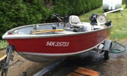 Fishing machine. 14 ft sport fisherman tin boat with road runner trailer. 15 hp Suzuki 4 stroke motor. 2 manual Scotty down riggers. Prawn trap puller. Rod holders hummingbird fish finder.