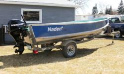 Moving must sell, no where to store my 14' Naden Fishing boat. Hardly been used, complete with a four stroke 15HP Merc motor. and accessories. $5,000. OBO. Call Rob at 1-306- 961- 1502 to arrange viewing. Boat is currently stored so will take a couple of
